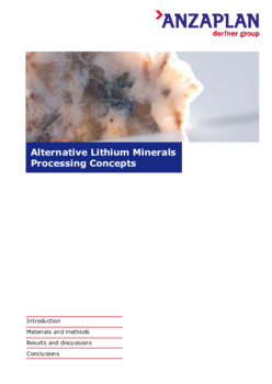 Alternative Lithium Minerals Processing Concepts